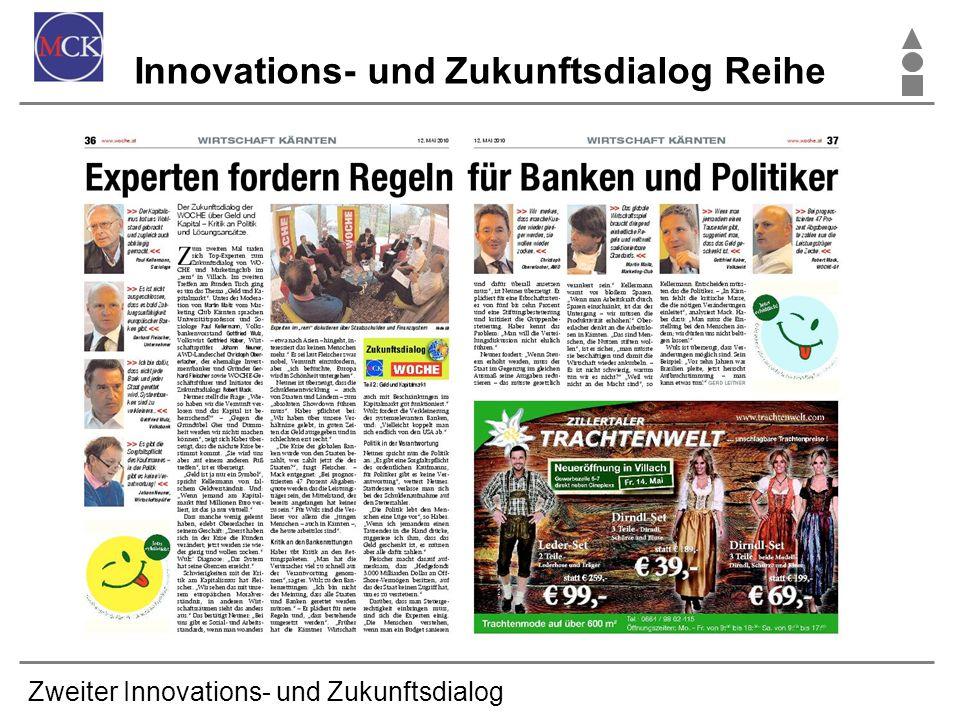 Zweiter Innovations- und Zukunftsdialog Innovations- und Zukunftsdialog Reihe