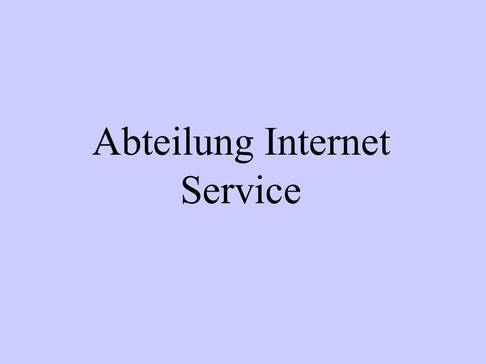 Abteilung Internet Service