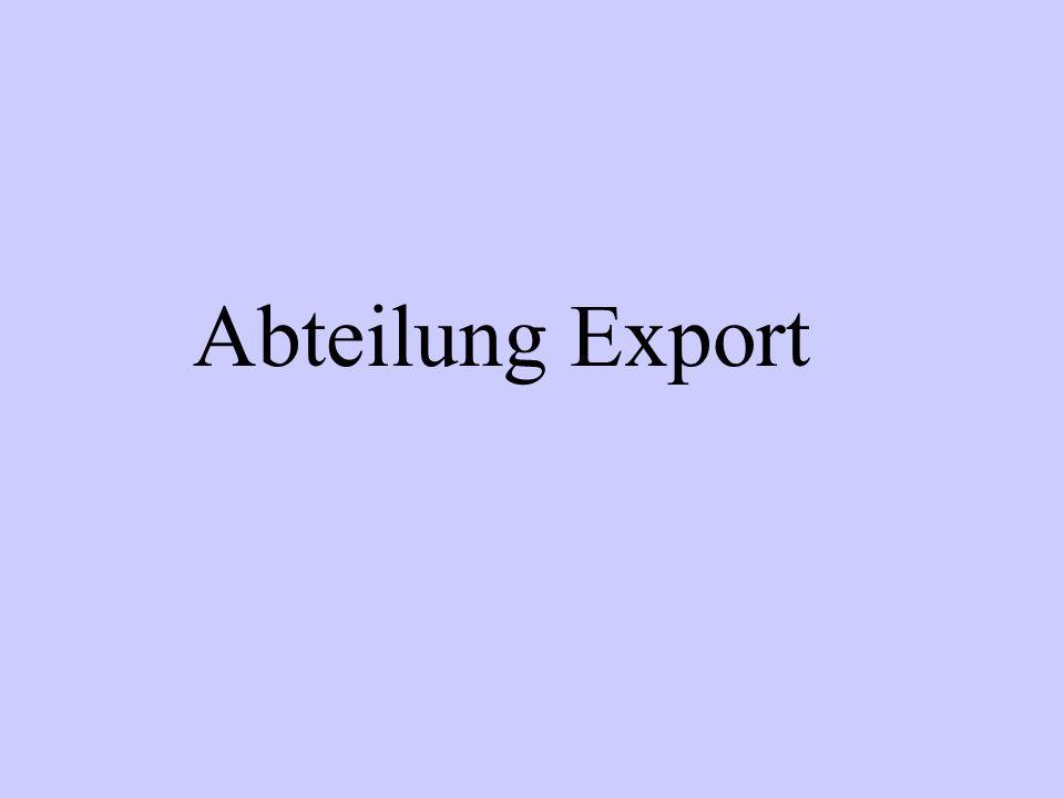 Abteilung Export