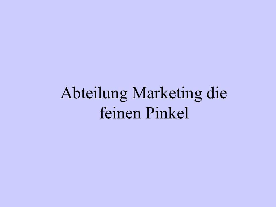 Andreas Chef Marketing Tanja Marketing Fatma und Jabba Praktikanten aus Indien /Abt. Marketing