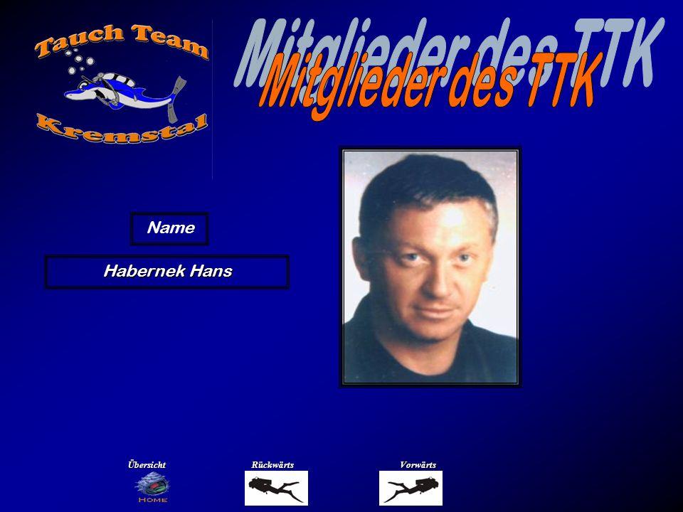 Habernek Hans Name ÜbersichtRückwärtsVorwärts
