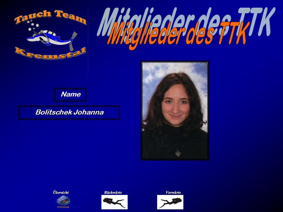 Bolitschek Johanna Name ÜbersichtRückwärtsVorwärts