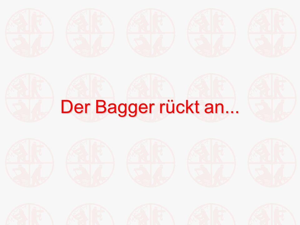 Der Bagger rückt an...