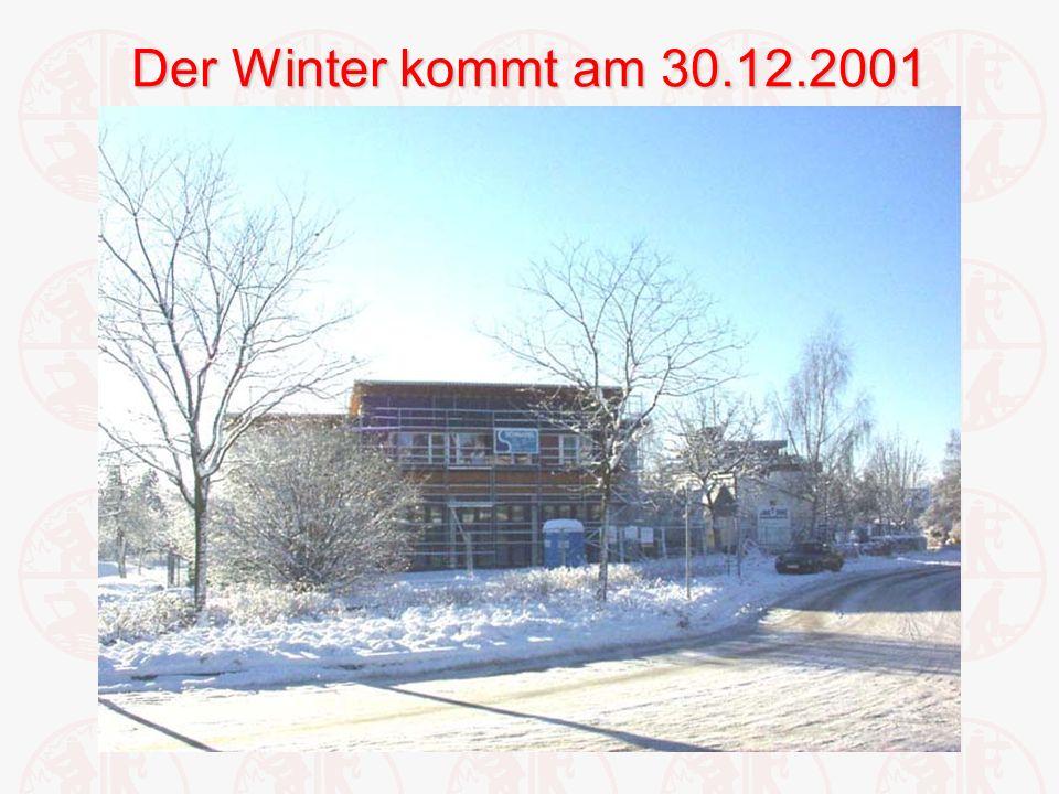 Der Winter kommt am 30.12.2001