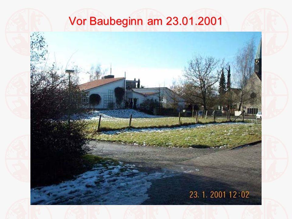 Vor Baubeginn am 23.01.2001