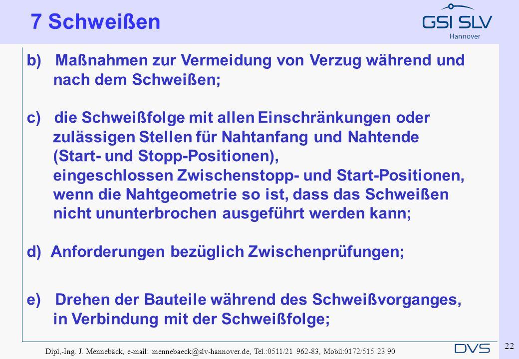 Dipl,-Ing. J. Mennebäck, e-mail: mennebaeck@slv-hannover.de, Tel.:0511/21 962-83, Mobil:0172/515 23 90 22 b) Maßnahmen zur Vermeidung von Verzug währe