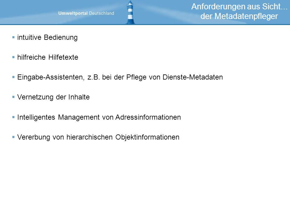 intuitive Bedienung hilfreiche Hilfetexte Eingabe-Assistenten, z.B.