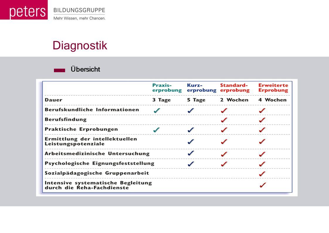Diagnostik Übersicht