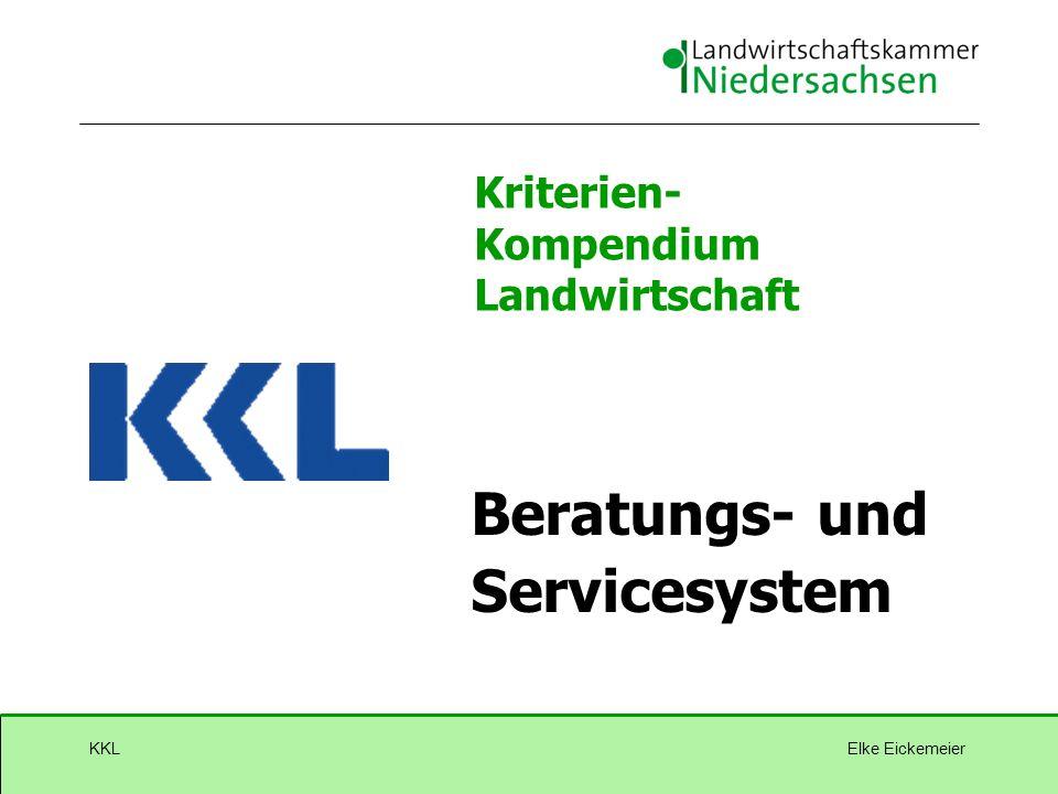 Elke EickemeierKKL Kriterien- Kompendium Landwirtschaft GQS BW Beratungs- und Servicesystem