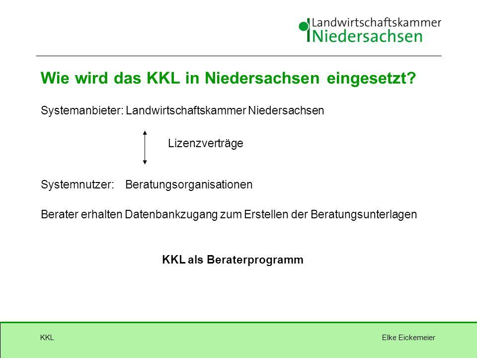 Elke EickemeierKKL Wie wird das KKL in Niedersachsen eingesetzt.