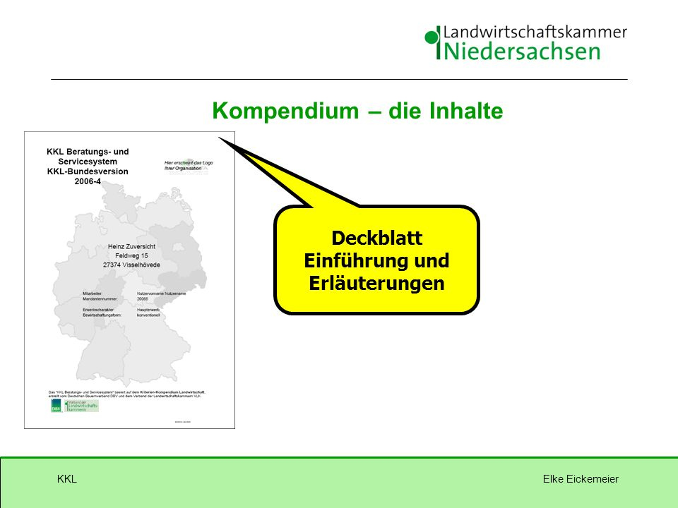 Elke EickemeierKKL Kompendium – die Inhalte Deckblatt Einführung und Erläuterungen