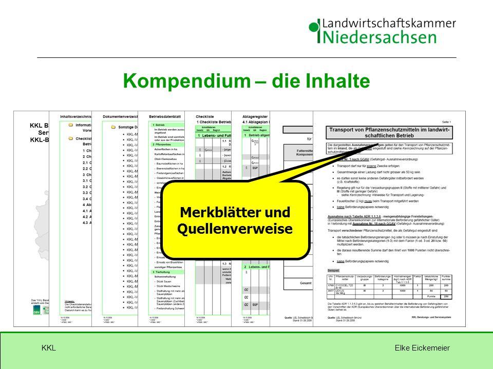 Elke EickemeierKKL Merkblätter und Quellenverweise Kompendium – die Inhalte