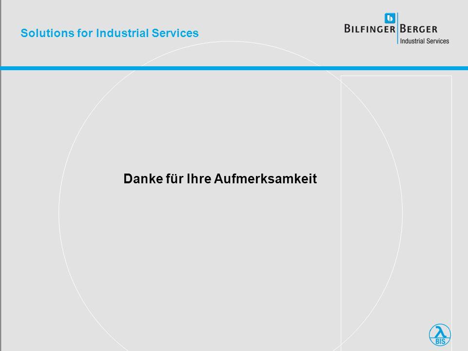 Solutions for Industrial Services Danke für Ihre Aufmerksamkeit