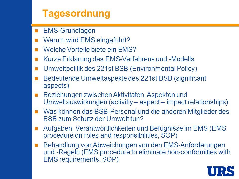 Employee Presentation 3-00 - p 2 Tagesordnung EMS-Grundlagen Warum wird EMS eingeführt? Welche Vorteile biete ein EMS? Kurze Erklärung des EMS-Verfahr
