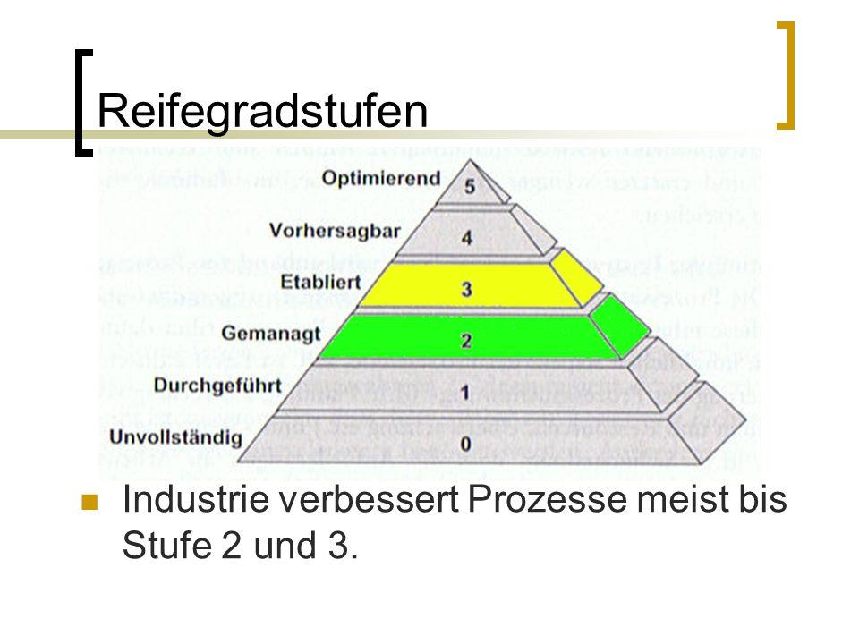 Spice verstehen Reifegrad 1 2 3 4 0 5 Prozesse Lief.