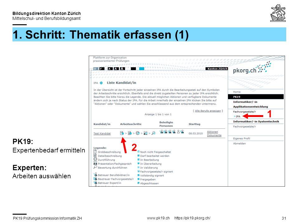 PK19 Prüfungskommission Informatik ZH www.pk19.ch https://pk19.pkorg.ch/ Bildungsdirektion Kanton Zürich Mittelschul- und Berufsbildungsamt 31 1.