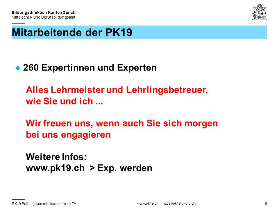 PK19 Prüfungskommission Informatik ZH www.pk19.ch https://pk19.pkorg.ch/ Bildungsdirektion Kanton Zürich Mittelschul- und Berufsbildungsamt 26 Facharbeit – Beurteilung (3) Teil A Berufsübergreifende Fähigkeiten / Präsentation (alle 12 Kriterien sind gegeben) Teil B Qualität Resultat / Doku (4 Kriterien sind gegeben / 8 müssen passend zur Arbeit ergänzt werden) Teil C Dokumentation (alle 12 Kriterien sind gegeben) Teil D Fachkompetenz (alle 12 Kriterien sind gegeben)