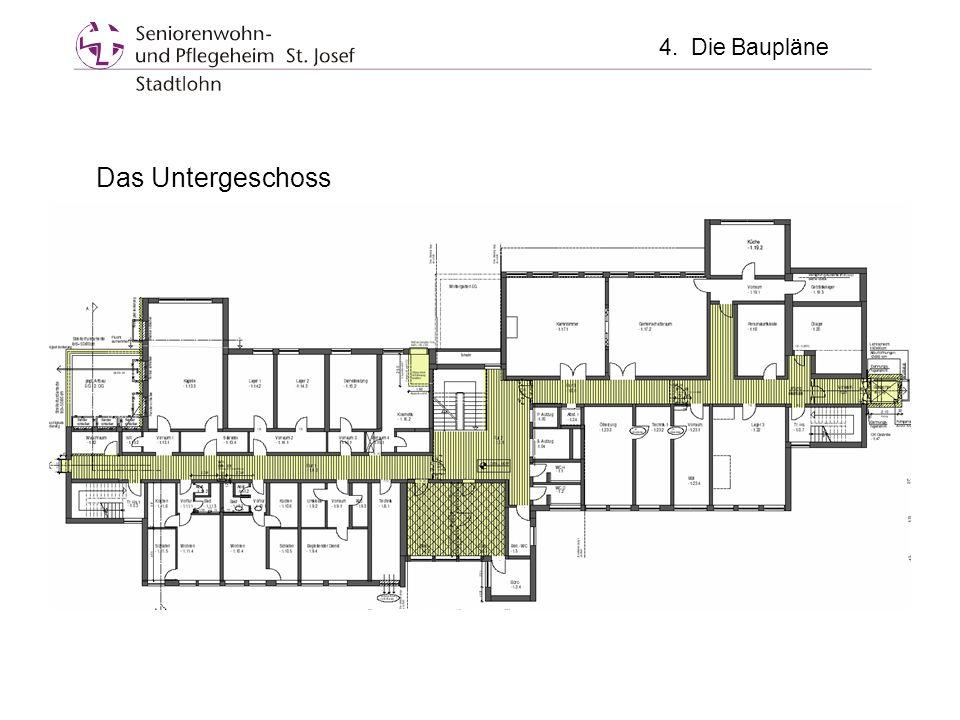 Das Untergeschoss 4. Die Baupläne