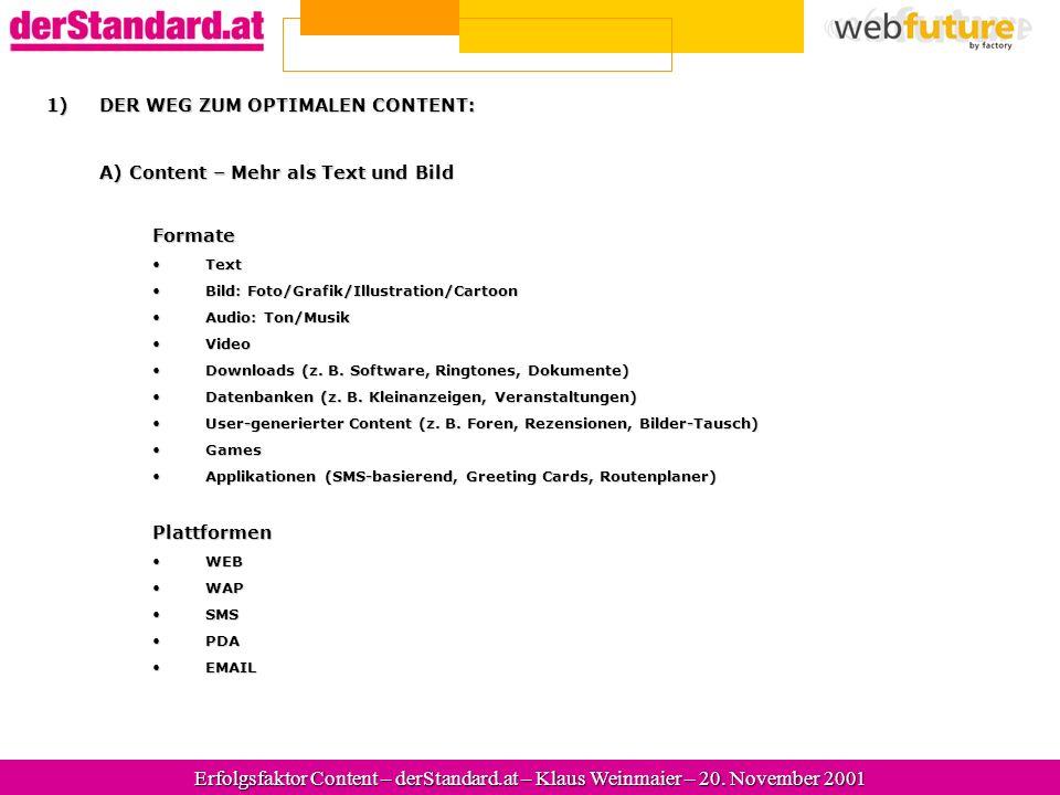 Erfolgsfaktor Content – derStandard.at – 20.