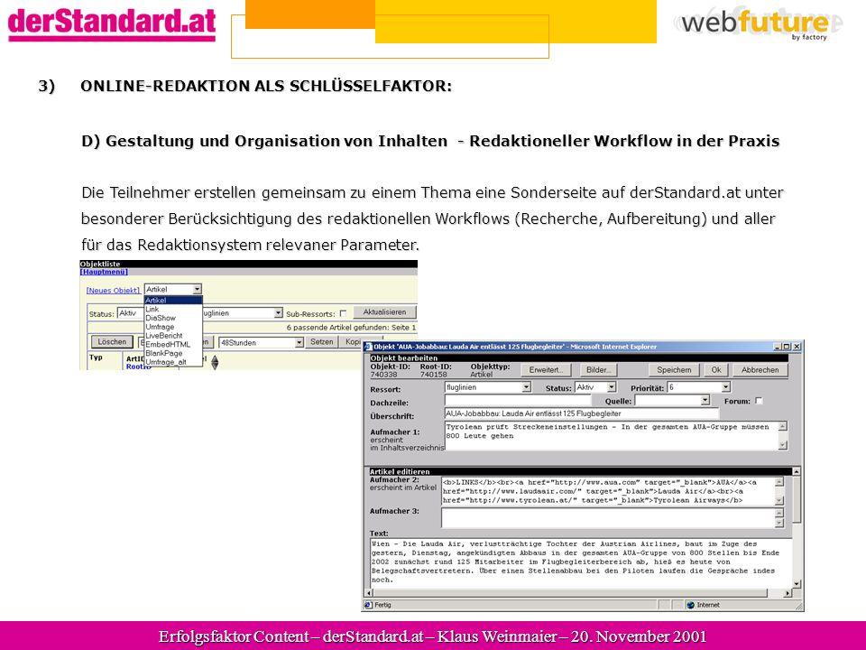 Erfolgsfaktor Content – derStandard.at – Klaus Weinmaier – 20.