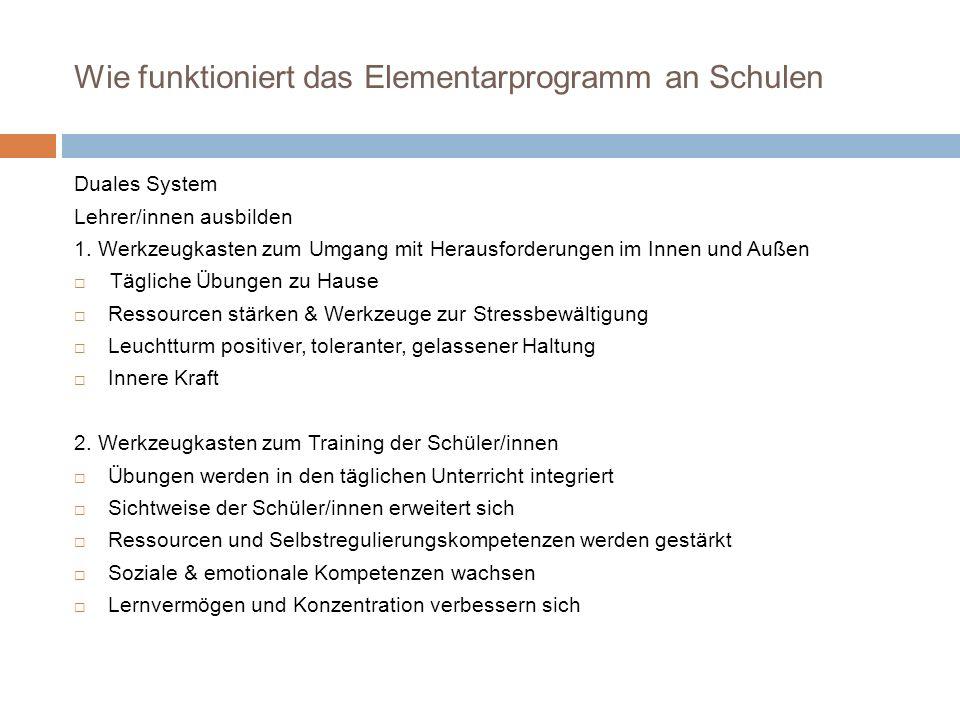 Wie funktioniert das Elementarprogramm an Schulen Duales System Lehrer/innen ausbilden 1.