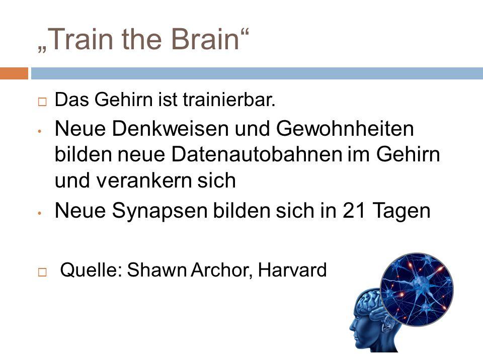 Train the Brain Das Gehirn ist trainierbar.