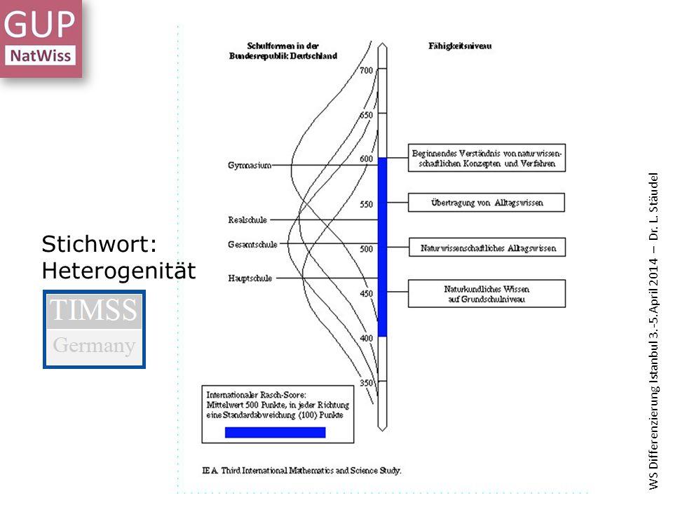 Stichwort: Heterogenität WS Differenzierung Istanbul 3.-5.April 2014 – Dr. L. Stäudel