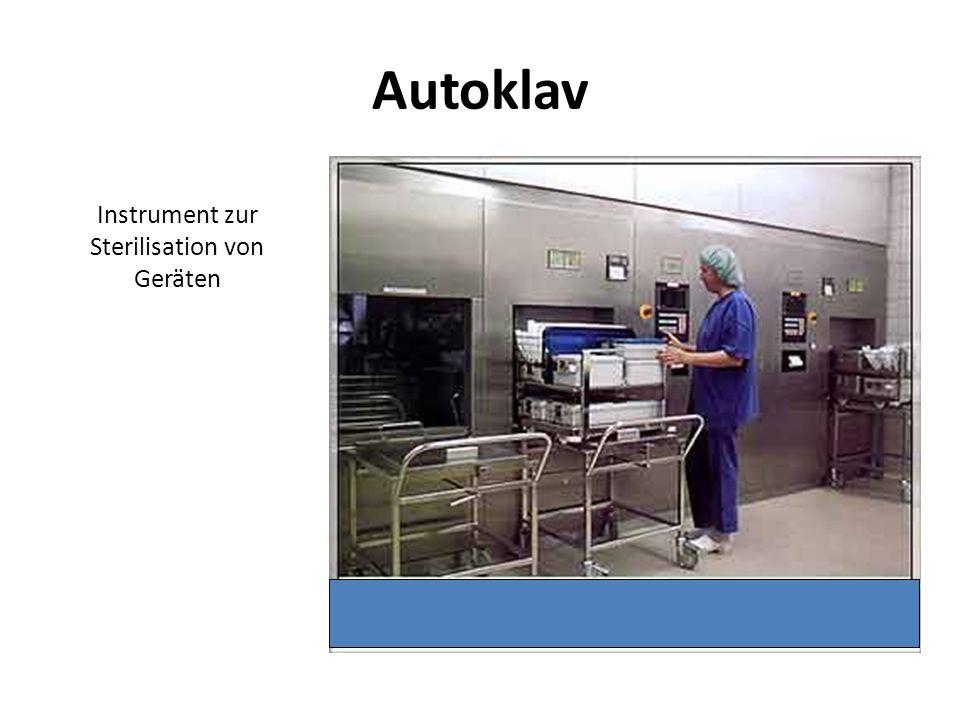Autoklav Instrument zur Sterilisation von Geräten