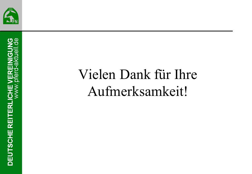 DEUTSCHE REITERLICHE VEREINIGUNG www.pferd-aktuell.de Vielen Dank für Ihre Aufmerksamkeit!