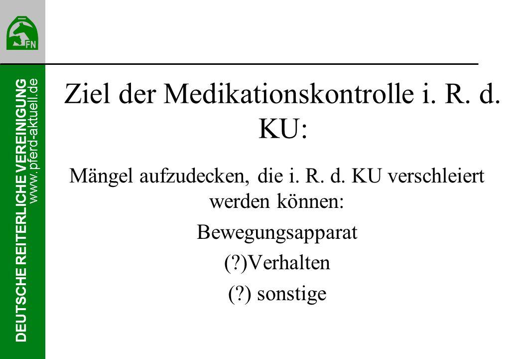 DEUTSCHE REITERLICHE VEREINIGUNG www.pferd-aktuell.de Probenentnahme Verwendetes Material Matrix