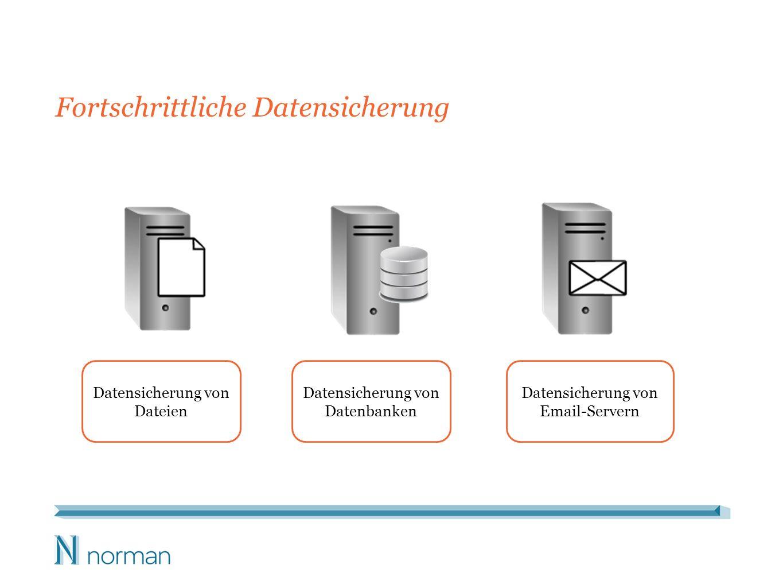 Fortschrittliche Datensicherung Datensicherung von Dateien Datensicherung von Datenbanken Datensicherung von Email-Servern