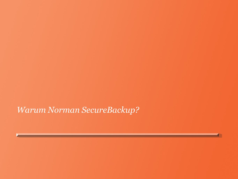 Norman SecureBackup - Zusammenfassung Sicher – Verschlüsselte Sicherungskopie – Doppelte Rechenzentren Skalierbar – Datensicherung, die mit Ihrem Unternehmen wächst Automatisch – Mühelos.