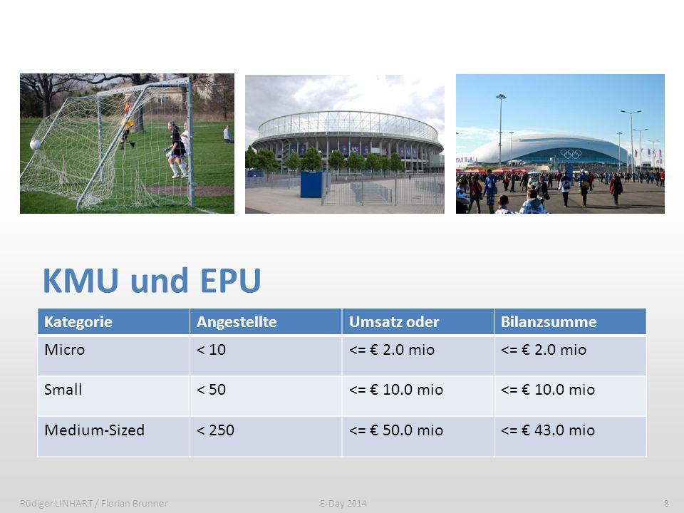 KMU und EPU - Statistikwerte Rüdiger LINHART / Florian Brunner9E-Day 2014