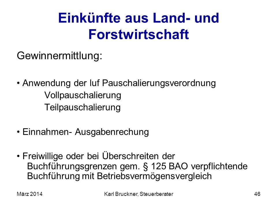 Einkünfte aus Land- und Forstwirtschaft Gewinnermittlung: Anwendung der luf Pauschalierungsverordnung Vollpauschalierung Teilpauschalierung Einnahmen-