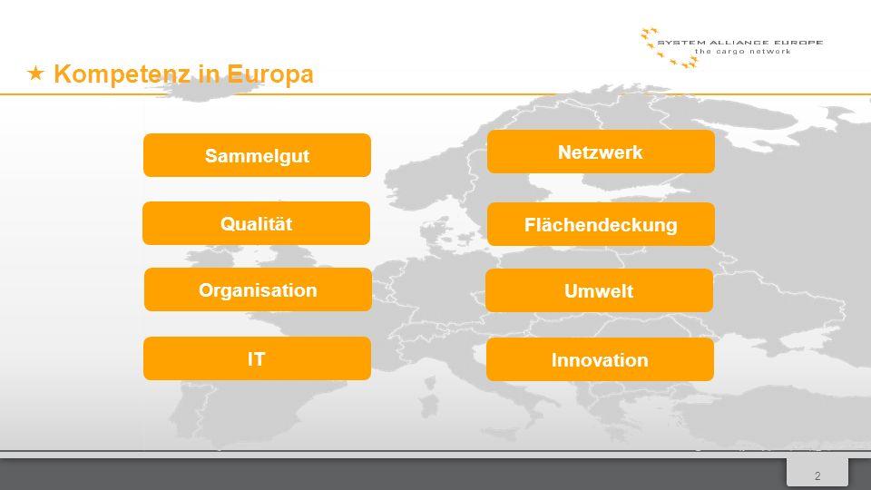 013 Inhalt Sammelgut in Europa Netzwerkentwicklung Logistik mit 9-Star Qualität Qualität Star Services, Star Extras und Kombinationsmöglichkeiten Logistikmodell IT Innovation und Nachhaltigkeit CargoTrack App und Web