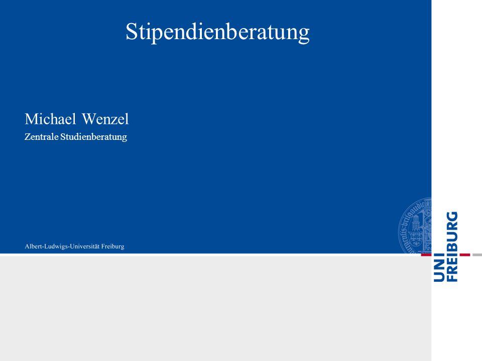 Michael Wenzel Zentrale Studienberatung Stipendienberatung