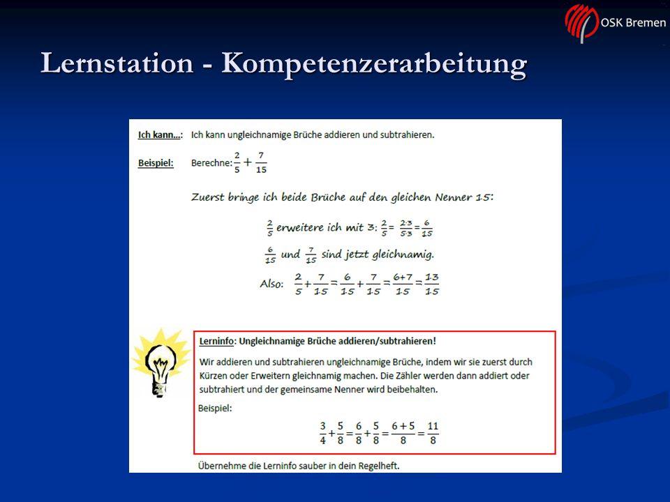 Lernstation - Kompetenzerarbeitung