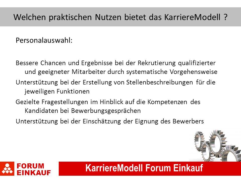FORUM EINKAUF KarriereModell Forum Einkauf Welchen praktischen Nutzen bietet das KarriereModell .