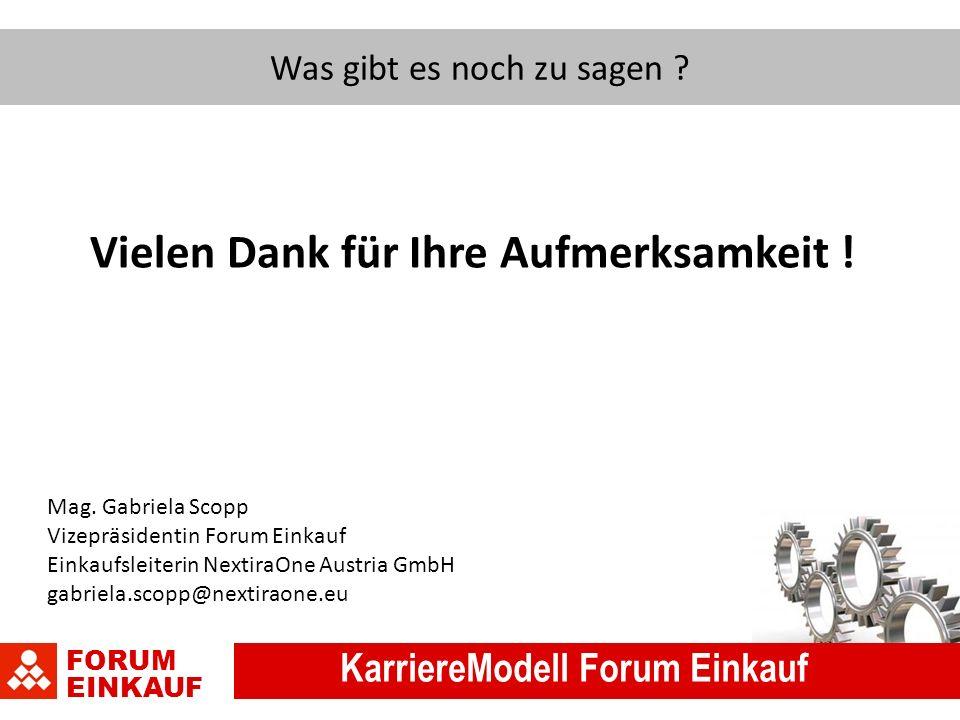 FORUM EINKAUF KarriereModell Forum Einkauf Was gibt es noch zu sagen .