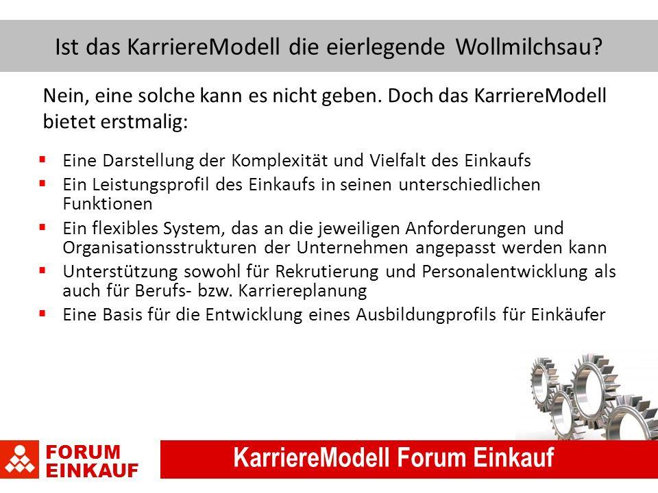 FORUM EINKAUF KarriereModell Forum Einkauf Ist das KarriereModell die eierlegende Wollmilchsau.