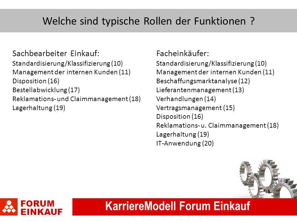 FORUM EINKAUF KarriereModell Forum Einkauf Welche sind typische Rollen der Funktionen .
