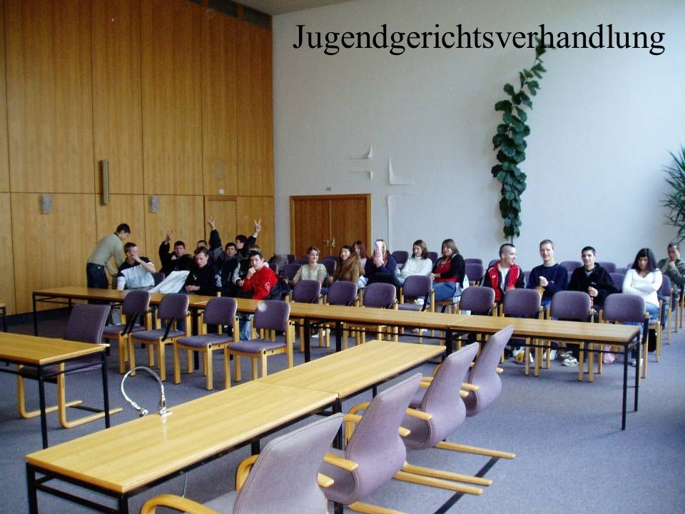 Jugendgerichtsverhandlung