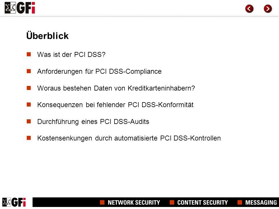 Der PCI DSS und Netzwerksicherheitslösungen von GFI PCI DSS-Anforderungen 1.