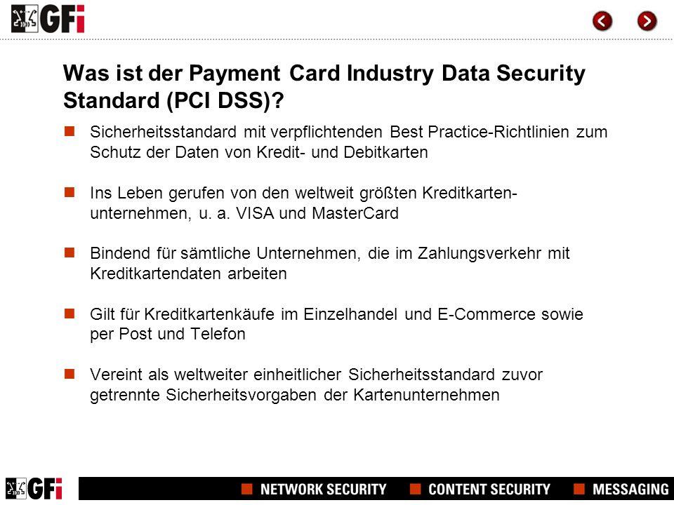 Warum ein Standard wie der PCI DSS.