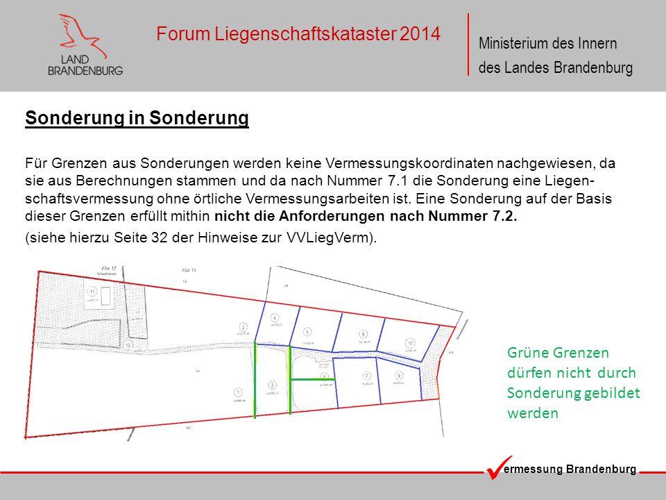 ermessung Brandenburg Ministerium des Innern des Landes Brandenburg Forum Liegenschaftskataster 2014 Sonderung in Sonderung Für Grenzen aus Sonderunge