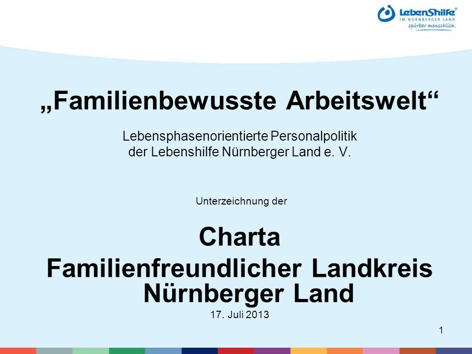 1 Familienbewusste Arbeitswelt Lebensphasenorientierte Personalpolitik der Lebenshilfe Nürnberger Land e.