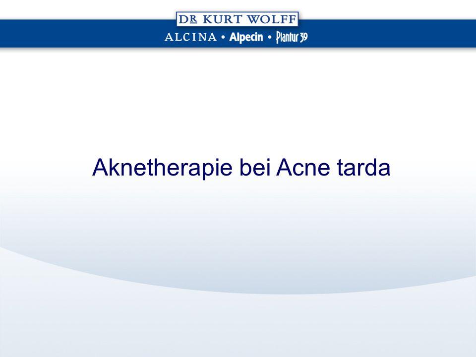 Aknetherapie bei Acne tarda