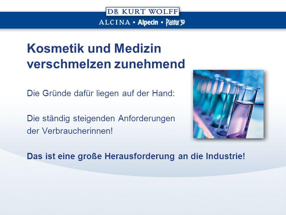 Kosmetik und Medizin verschmelzen zunehmend Die Gründe dafür liegen auf der Hand: Die ständig steigenden Anforderungen der Verbraucherinnen.
