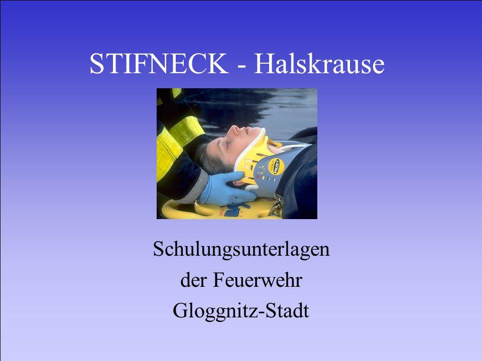 STIFNECK - Halskrause Schulungsunterlagen der Feuerwehr Gloggnitz-Stadt