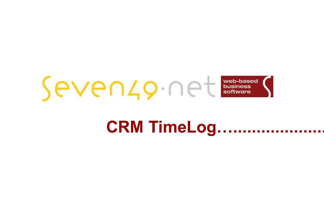 CRM TimeLog….....................